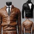 un blouson slim et fashion, aspect cuir.