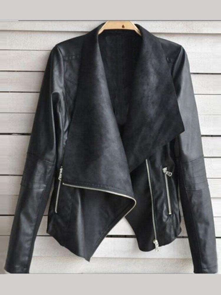 Veste en cuir ou simili cuir femme