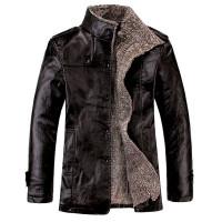 blouson faux cuir fashion couleur noir