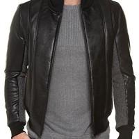 BLZ-jeans-Blouson-Homme-Simili-Cuir-Noir-Zipp-0