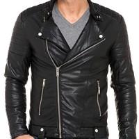 BLZ-jeans-Veste-noire-simili-cuir-0