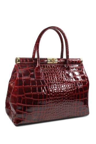 tout neuf 74d50 b91df Belli , Sac à main pour femme Rouge Bordeaux 34x25x16 cm (B x H x T)