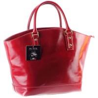 Cabas-Sac--main-cuir-rougebordeaux-Sac-en-cuir-vritable-N1579-Cuir-Italien-LIVRAISON-GRATUITE-0