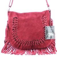 Joli-sac--mainbandoulire-en-cuir--franges-N1242-Rougebordeaux-0