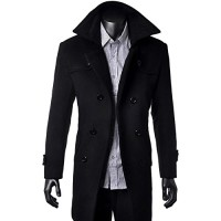 OCHENTA-Homme-Manteau-mi-long-double-boutonnage-classique-Gabardine-automne-et-hiver-0