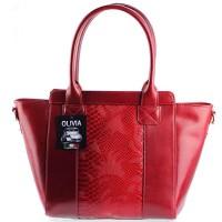 OLIVIA-Sac--main-cuir-vritable-Sac-en-cuir-rougebordeaux-N1356-LIVRAISON-GRATUITE-0