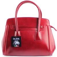 OLIVIA-Sac--main-cuir-vritable-Sac-en-cuir-rougebordeaux-N1362-Livraison-OFFERTE-0
