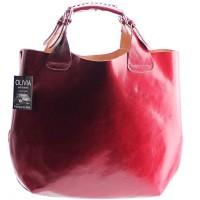 Sac-cabas-Sac--main-femme-Cuir-vritable-Rougebordeaux-Rf-PARIS-N1296-Nouvelle-collection-0