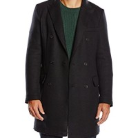 United-Colors-of-Benetton-Smart-Wool-Mix-Double-Breasted-Manteau-Manches-Longues-Homme-0