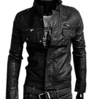 Zeagoo-Homme-Elgant-Moto-Cuir-Synthtique-Casual-Coat-Veste-Blouson-Jackets-3-Couleurs-M-XXL-0