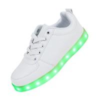 7-Couleur-Unisexe-Homme-Femme-USB-Charge-LED-Lumire-Lumineux-Clignotants-Chaussures-de-Sports-Baskets-Blanc-navire-par-DHL-5-7-jours-0