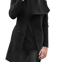 Sourcingmap-Manteau-Trench-coat-lgant-longues-manches-pour-hommes-0