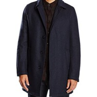 United-Colors-of-Benetton-Formal-Woolmix-Lined-Overcoat-Manteau-Manches-Longues-Homme-0
